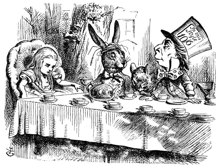 Alices Menagerie In Wonderland Alice With The March Hare Hatter And Dormouse