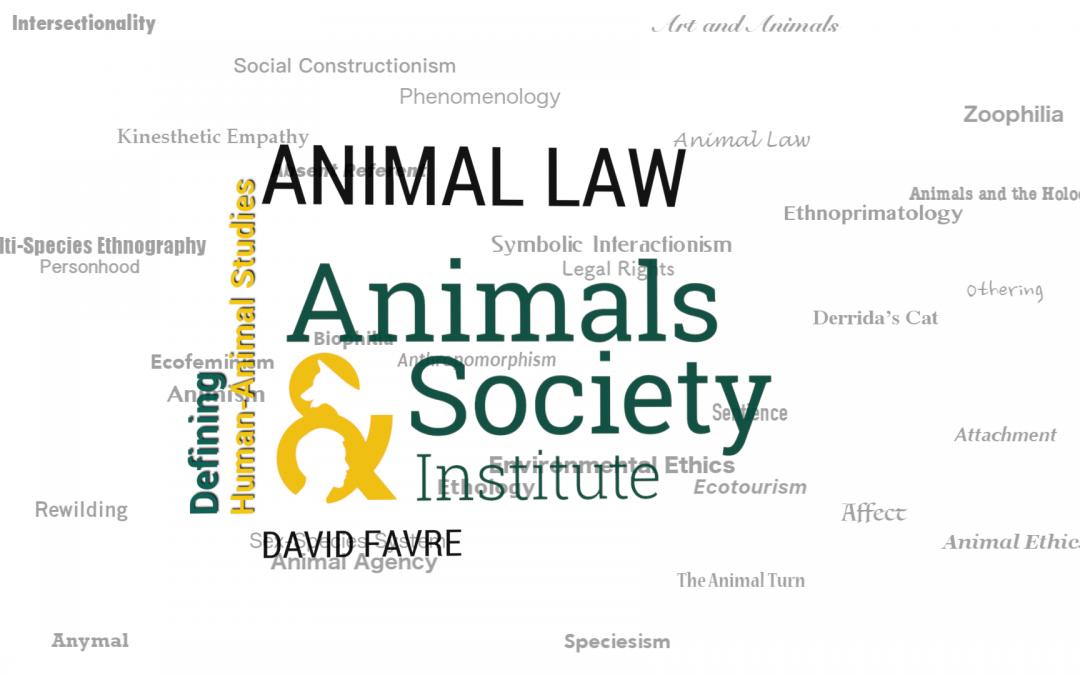 This Week in Defining Human-Animal Studies: Defining Animal Law with David Favre