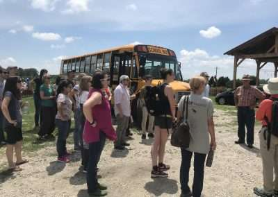 Participants visit a goat farm in order to interrogate animal agriculture